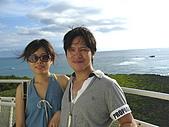 20090830-我來了,沖繩:殘波岬燈塔頂端