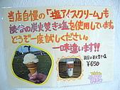 20090830-我來了,沖繩:海報上大推美味的鹽冰淇淋