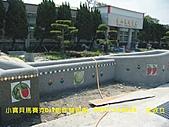 馬賽克  馬賽克DIY  馬賽克壁畫製作:彰化縣福興鄉  永豐國小   校園圍牆向日葵馬賽克壁畫  馬賽克作品五幅  現場施工圖