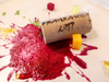 軟木塞是台灣鵝肝慕斯 / 紅酒是澎湖仙人掌
