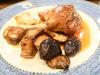 櫻桃鴨腿、肉汁、炒洋芋、什錦菌菇