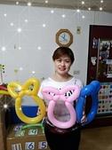 我的氣球作品:貓帽造型氣球