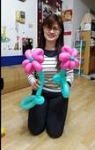 我的氣球作品:花朵造型氣球