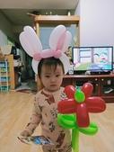 我的氣球作品:兔子帽&花