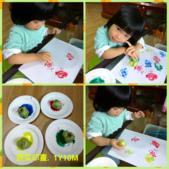 AA Play time 3 活動寫真:用青江菜的頭部,可以蓋出一朵朵美麗的小花喔!