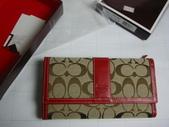 COACH皮夾-全部現貨-實物拍攝 :皮夾109號 COACH 經典熱賣長夾多功能長夾紅色=1250.jpg