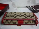 COACH皮夾-全部現貨-實物拍攝 :皮夾109號 COACH 經典熱賣長夾多功能長夾紅色=1250 (1).jpg