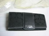 COACH皮夾-全部現貨-實物拍攝 :皮夾110號 COACH 經典熱賣長夾多功能長夾黑色-1=1250.jpg