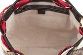 GUCCI時尚經典女包-全部現貨-實物拍攝:包包153號 z GUCCI-153033-時尚流行雙G布料絲巾購物包-咖啡色尺寸W38H30D10CM=2500 (2).jpg