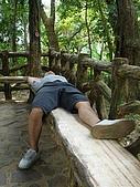 970809大板根森林遊樂區:懶散的人一看到涼亭又躺了下來