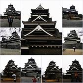 20120116A 早餐‧雨中熊本城:『熊本城』- 雨中天守閣