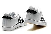 Adidas非主流版女生版:Adidas非主流版女生版白黑头层皮 36--45
