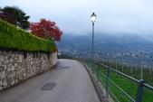 """義大利─Merano舊城區之一&提洛洛城堡(2014/10/17) :清晨旅館周邊的""""Apfelweg""""步道"""