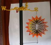 """風陀螺:風陀螺-----WS-12-01  STAR 星星, 12""""直徑30cm,鋼片雷射切割, 直接固定於支架。"""