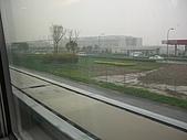 上海浦東磁浮列車:另一方向列車的軌道