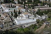 西班牙之旅─風車群、格蘭納達、哥多華、塞維亞:阿爾罕布拉宮眺望市郊景觀