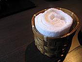 日本創作料理:熱毛巾