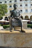 希臘一塞薩洛尼基、克里特島古跡風情:亞里斯多德雕像