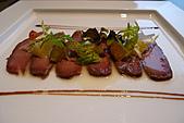 精緻商業套餐:塩漬生鴨肉薄片襯柳橙沙拉及水果芥茉