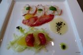 Marco priolo私房佳餚:波士頓龍蝦薄片茴香沙拉佐柳橙、風乾蕃茄﹝黑橄欖末、檸檬醬汁、炸酸豆﹞