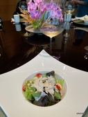 ibuki 李桑の創作懷石料理:蟹肉沙拉佐五種堅果醬