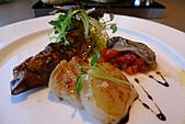 精緻商業套餐:嫩煎干貝襯碳烤茄子及新鮮生蠔