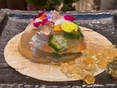 ibuki 李桑の創作懷石料理:日本北海道干貝、明蝦、秋葵櫻花凍