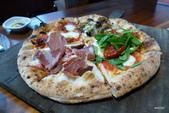 Osteria by Angie精緻義大利料理:蘑菇、生火腿、莫扎瑞拉起司、瑪格莉特四味比薩