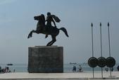 希臘一塞薩洛尼基、克里特島古跡風情:亞歷山大騎馬雕像