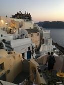 希臘一聖托里尼風情:觀看伊亞夕陽人潮