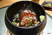 带金利明Toshiaki Obigane懷石料理:鮭魚卵、鯛魚茶泡飯