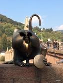 林德霍夫堡、新天鵝堡、米爾斯堡、波登湖畔、蒂蒂湖、巴登巴登、海德堡:猴子銅像Brückenaffe, the Bridge Monkey of Heidelberg