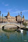 西班牙之旅─風車群、格蘭納達、哥多華、塞維亞:西班牙廣場景色