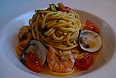 精緻商業套餐:手工義大利麵佐鮮茄蝦仁蛤蠣醬
