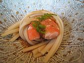ibuki日本料理:前菜有機烏龍麵及鮮蝦