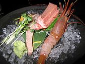 三井料理美術館:鮪魚生魚片&牡丹蝦