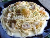 食品模型/西洋風味篇:奶油蘑菇雞肉義大利麵