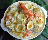 食品模型/西洋風味篇:奶油海鮮焗烤飯