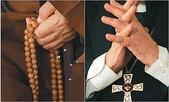 祝福眾生:單國璽與聖嚴兩人手勢