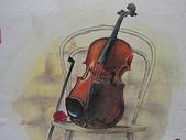習作與畫作回憶:學生時期770612小提琴