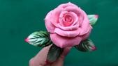 習作與畫作回憶:自製紙黏土玫瑰3