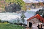 克羅埃西亞-科卡國家公園:階梯式瀑布五.jpg
