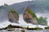 瑞士-萊茵瀑布:萊茵瀑布大岩石四
