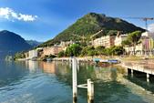 瑞士-盧加諾:渡輪碼頭附近的景色八