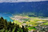 瑞士-哈德庫爾姆:俯望兩湖間的茵特拉肯四.jpg