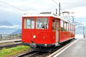 瑞士-瑞吉山:紅色Vitznau 線齒軌列車二.jpg