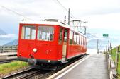 瑞士-瑞吉山:紅色Vitznau 線齒軌列車一.jpg