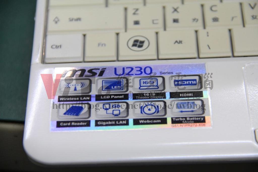 MSI U230 開機沒畫面:微星 MSI U230