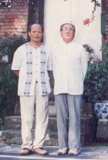未分類相簿:施正忠師父與梅花螳螂名師李鴻傑(圖右)