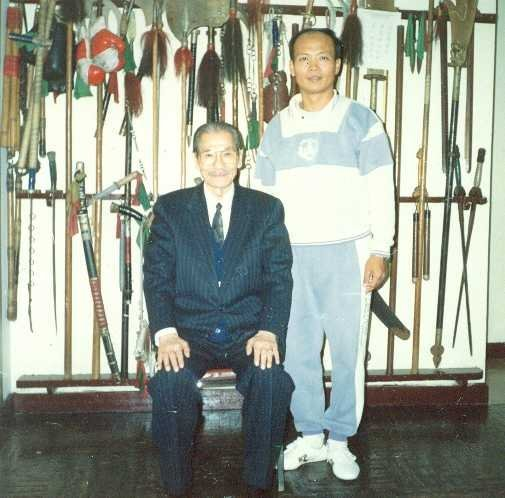未分類相簿:施正忠師父與太極螳螂名師趙竹溪(圖左)